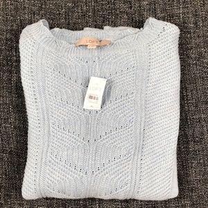 Loft Baby Blue sweater size XL NWT